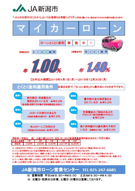2019.4-2019.12マイカー